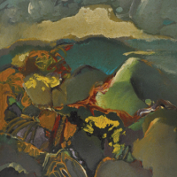 88-Raphael-Scott-Ahbeng,-'Judgement-Day-in-Sarawak'-(2005),-30.5cm-x-22.5cm,-Oil-on-board