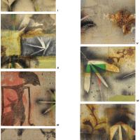 13-Mohd. Raduan Man Anak-anak Wayang I-VII, 2005 Mixed media on canvas 31 x 31 cm x 7 pieces