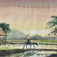 46-A.B-Ibrahim,-Watercolour-on-paper,-27.5-x-37cm