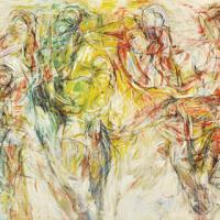 58-Yusof-ghani,-Siri-Tari-Lambak,-1990,-Mixed-media-on-canvas,-145-x-213cm