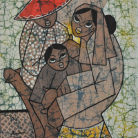 75-Goh-Kwan-Chin-(2011)-Mother-and-Child-II,-Batik,-54cm-x-45cm