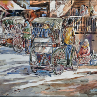 78-Ismail-Mat-Hussin,-2011,-Watercolour-on-paper,-40-x-57cm