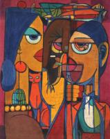 17-Chuah-Teng-Teng-_Figures_-(1970's)-Batik-57-x-44.5-cm