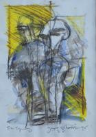 23-Yusof-Ghani,-Siri-Topeng,-1995,-Mixed-media-on-paper,-40.5-x-27cm