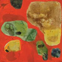 86-Fauzul-Yusri,-Orange-Position,-2014,-Acrylic-and-mixed-on-canvas,-92-x-92cm