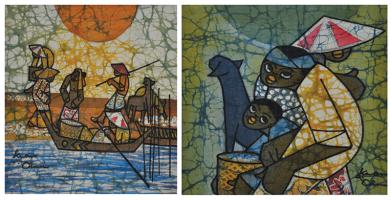 19-Goh-Kwan-Chin-(2011)-Fishing-Village,-Batik,-25.5cm-x-28cm