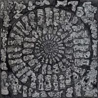 35-Zulkifli-Yusoff,-Co-operation,-1997,-Acrylic-on-canvas,-152-x-152-cm