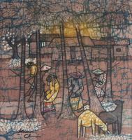 87-Kwan-Chin-_Rubber-Tappers---Brown-Series_-(2012)-Batik-44-x-38cm