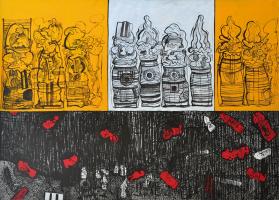 89-Zulkifli-Yusoff,-Treasure-Hunt,-1997,-Acrylic-on-canvas,-152-x-213-cm-