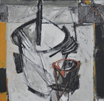 19-Iraga - Sketsa V, 2004 RM 26,400.00-SOLD | Mixed media on canvas | 61 x 61 cm