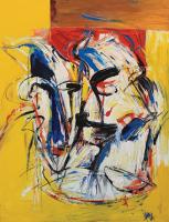 Yusof-Ghani,-Siri-Topeng,-Acrylic-on-canvas,-122-x-91cm