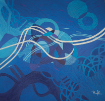 11-Nik-Rafin-'Feeling-Blue'-(2011)-60cm-x-60cm-Acrylic-On-Canvas-RM-800---1,200-