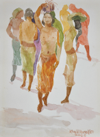 12-Khalil-Ibrahim-'Bali-Nude-Series'-(2006)-Watercolour-on-Paper-21cm-X-30cm