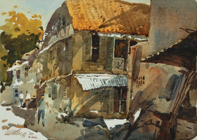 18-Ong-Kim-Seng,-Straits-Chinese-House,-1990,-Watercolour-on-paper,-28-nx-38cm-RM-1,800---3,200