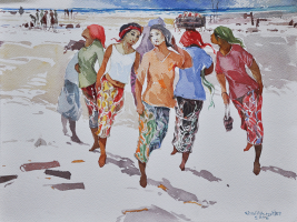 33-Khalil-Ibrahim-'East-Coast-Series'-(2006)-40cm-x-31cm-Watercolour-on-Paper-RM-2,500---5,000