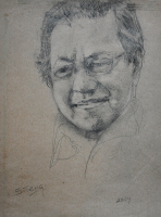 5-Chuah-Siew-Teng-'Tun-Mahathir'-(2004)-Charcoal-on-Paper-26.5cm-x-20.5cm