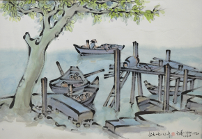 17-Tan-Choon-Ghee-'Untitled'-(1982)-Chinese-ink-and-watercolour-on-paper,-44-x-67cm-RM-7,500---8,500