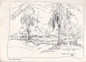 32-Ismail-Mat-Hussin,-Kg.-Kuala-Besar,-1985,-Pen-on-paper,-18.5-x-27-cm