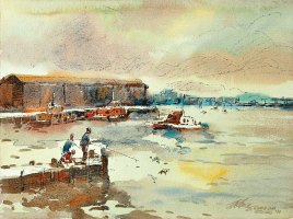 28-Ong-Kim-Seng,-Corio-Bay-Geelong,-1990,-Watercolour-on-paper,-28-x-38cm-RM-5,800---8,000
