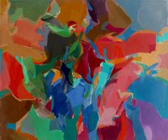 """9-Khalil-Ibrahim-""""Abstract""""-(1992)-Acrylic-on-Canvas-97cm-X-115.5cm-RM-16,000---24,000"""