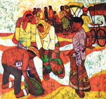 18-Kwan-Chin-&-Ismail-Mat-Hussin-'Kota-Bharu-Market'-Batik-46.5-x-42.5-cm