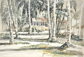 19-Ismail-Mat-Hussin-'East-Coast-Village'-(1974)-Watercolour-on-Paper-27cm-x-39.5cm-RM-9800