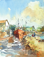 27-Ong-Kim-Seng,-Geelong-Corio-Bay,-1990,-Watercolour-on-paper,-38-x-28cm-RM-5,800---8,000