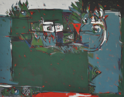 41-Awang-Damit-Ahmad-EOC-Series-Ting-Ting-Elegi-Anak-Kecil-(1987)-Mixed-Media-on-Canvas-115cm-x-145cm-Setia