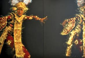 74-Ahmad-Zakii-Anwar-Legong-4,-1997-Acrylic-on-canvas-120-x-180-cm-(Diptych)-RM-90,000---RM-130,000