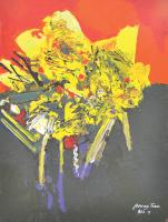85-Raphael-Scott-Ahbeng,-'Flower-Trees'-(2009),-22.5cm-x-30.5cm,-Oil-on-board