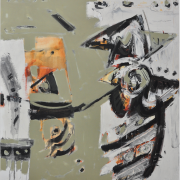 """10-Marista """"The Last Catch II"""", 1997 RM 31,900.00-SOLD Mixed media on canvas, 125 x 110 cm"""