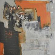 "11-Marista ""Kemudi Patah"", 2001 RM 27,500.00-SOLD Mixed media on canvas, 118.5 x 110"