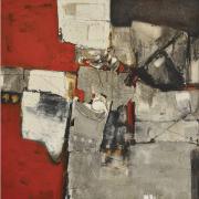 """13-Awang Damit Ahmad, Iraga """"Halaman Yang Hilang"""", 2006, Mixed media on canvas, 94 x 91cm RM 24,200.00-SOLD"""