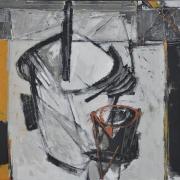 19-Iraga - Sketsa V, 2004 RM 26,400.00-SOLD | Mixed media on canvas | 61 x 61 cm