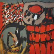 2-Marista Series, 2009 RM 6,600.00-SOLD | Mixed media on canvas | 51 X 46 cm