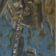 "28-EOC Apa Khabar Ledang I"" (1992) 183.5cm x 81.5cm Mixed media on canvas RM 82,880.00-SOLD"