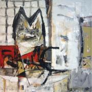 3-Marista, Yang Tersisa, 1999 RM 8,800.00-SOLD | Mixed media on canvas | 107 x 100 cm
