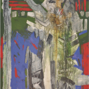 4-Essence of Culture - Childhood Memory, 1993 RM 27,500.00-SOLD | Mixed media on canvas | 106.5 x 91.5 cm