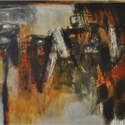 5-Kemarau Ini, 2009 RM 13,750.00-SOLD | Mixed media on canvas | 100 x 100 cm