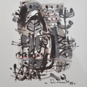 6-Essence of Culture Series I, 1993 RM 3,300.00-SOLD | Mixed media on paper | 28 x 19 cm