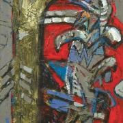 AWANG DAMIT AHMAD, RUMBIA DAN PUCUK PAKU (ESSENCE OF CULTURE SERIES), 1992 Mixed media on canvas 76cm x 61cm