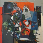 Awang Damit, E.O.C 6_86 Acrylic on canvas 98 x 87 cm