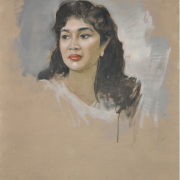 1-Portrait of an Indonesian Beauty, Undated RM 24,200.00-SOLD Oil on canvas 80 x 65 cm