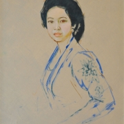 3-Portrait of an Indonesian Beauty, Undatedcm RM 23,100.00-SOLD | Oil on canvas | 80 x 65 cm