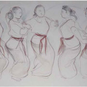 Balinese Dancers, 2001 RM 12,100.00-SOLD | Pastel on paper | 46 x 78 cm