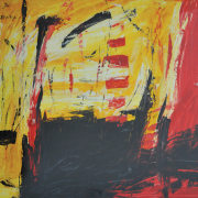 4-Abstract Landscape 4, 2011 Oil on paper 54.5 x 67 cm RM 7,150.00-SOLD | Oil on paper | 54.5 x 67 cm