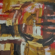 6-Abstract Landscape III, 2009 RM 1,650-SOLD | Oil on paper 53 x 69 cm | 54.5 x 67 cm