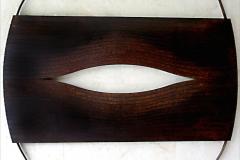 Abdul Multhalib Musa %22Torn in Two%22 (2003) Lasercut Mild Steel (2003) 120cm x 66cm x 4.5cm RM 12,000
