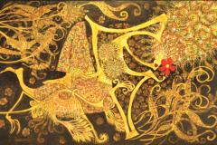 Nizam Ambia %22Jentayu & Melor%22 (2004) Mixed Media on Canvas 170 x 280 cm Rm 28,000