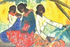"""Tan Thean Song XXXXX, 2007 Signed """"Thean Song"""" on lower left Batik 48 x 78 cm"""